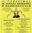XV Międzynarodowy Festiwal im. I. Reimanna już wkrótce!