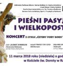 Koncert pieśni pasyjnych i wielkopostnych – ZAPRASZAMY!