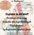 """""""Apetyt na czytanie"""", czyli ferie on-line z Biblioteką!"""