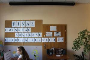 BPMiG Radkow final Gminnego Konkursu Ortograficznego 2018 Radkow 01