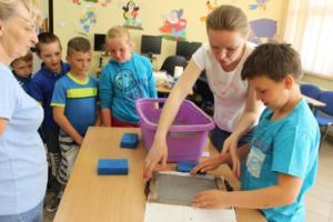 BPMiG Radkow Czerpanie papieruTydzień Bibliotek 2018 Kraina Wobrazni 32